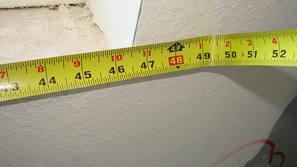 measure across window opening