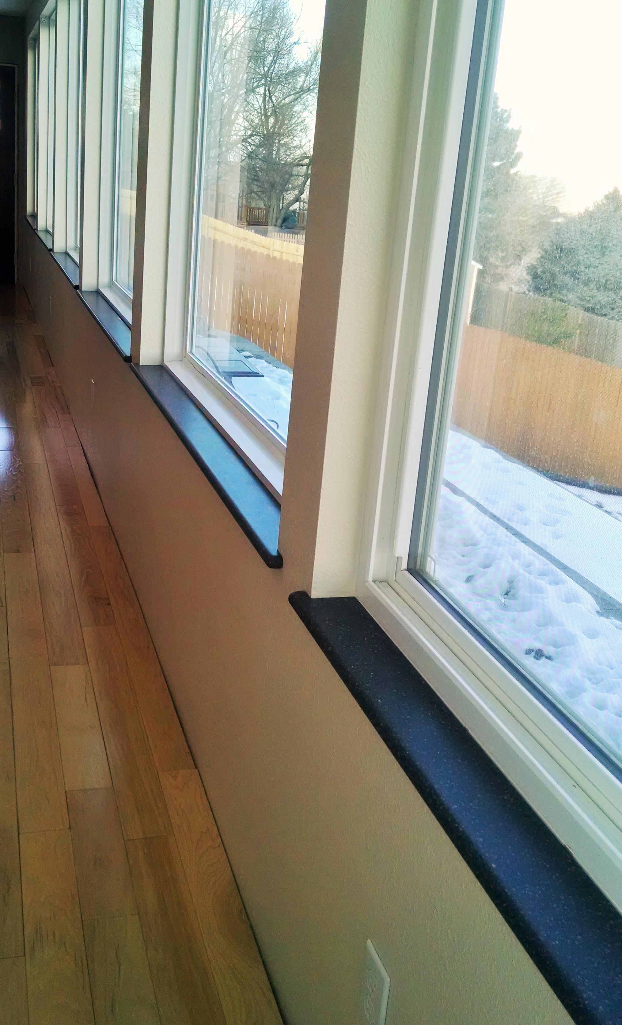 Modern window sill - Benefits Of Solid Surface Window Sills